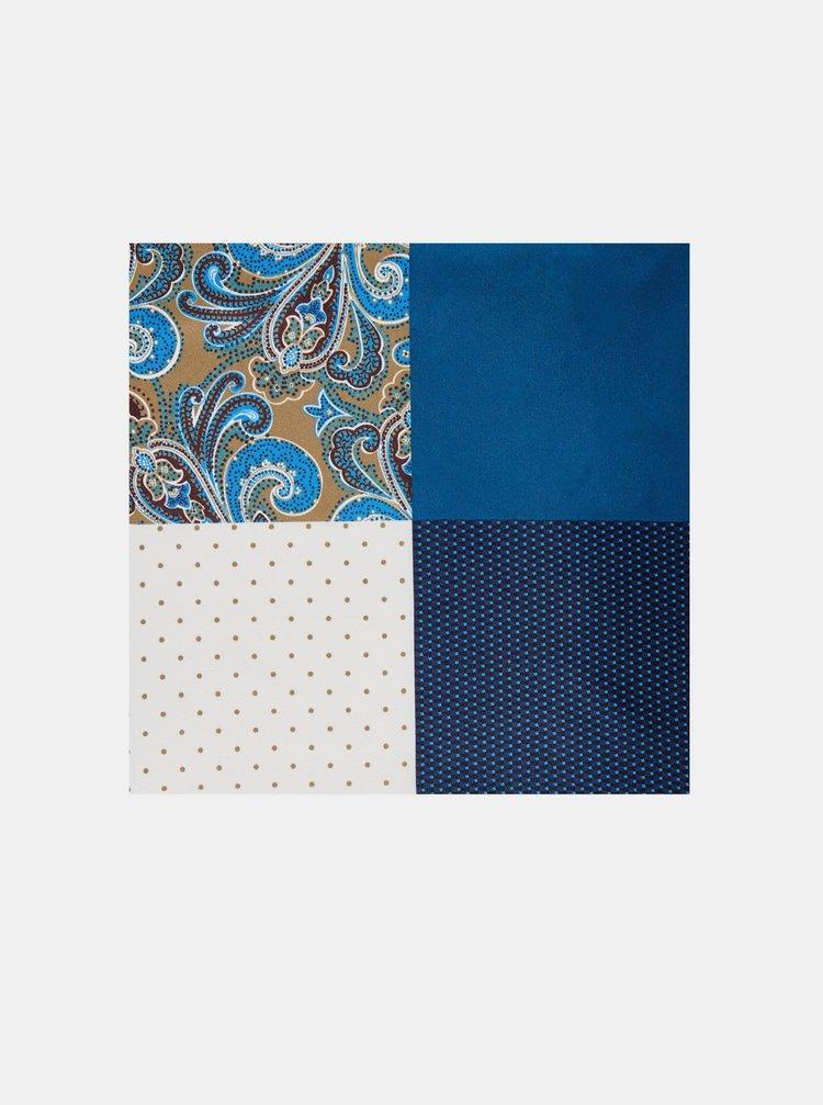 Modro-bílý kapesník do saka Burton Menswear London