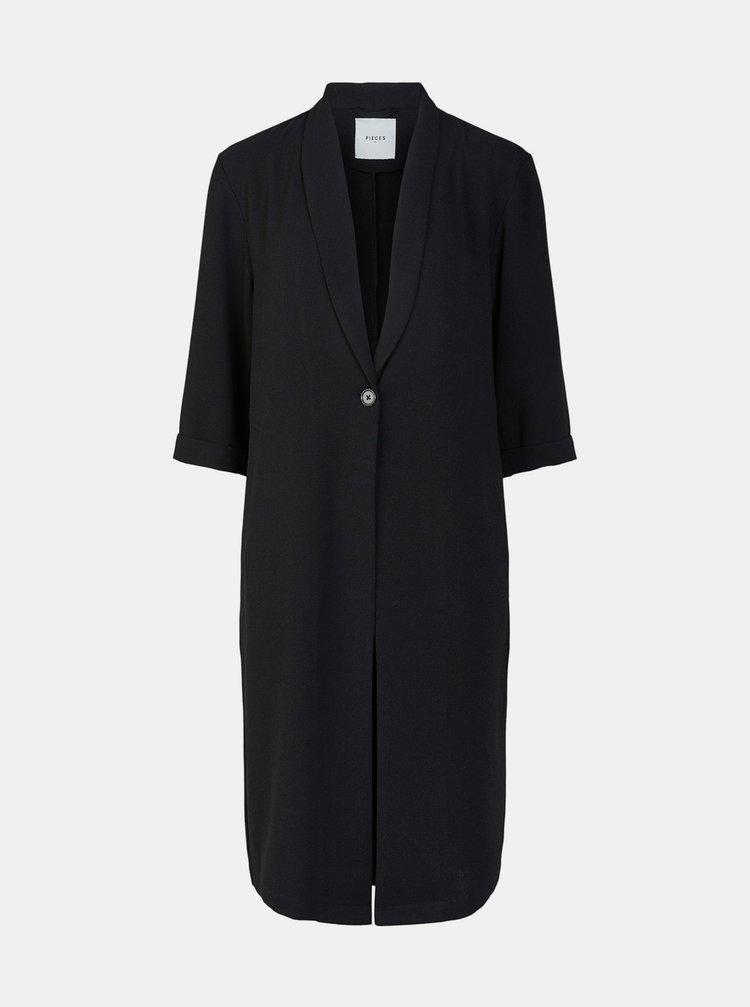 Čierny ľahký kabát Pieces