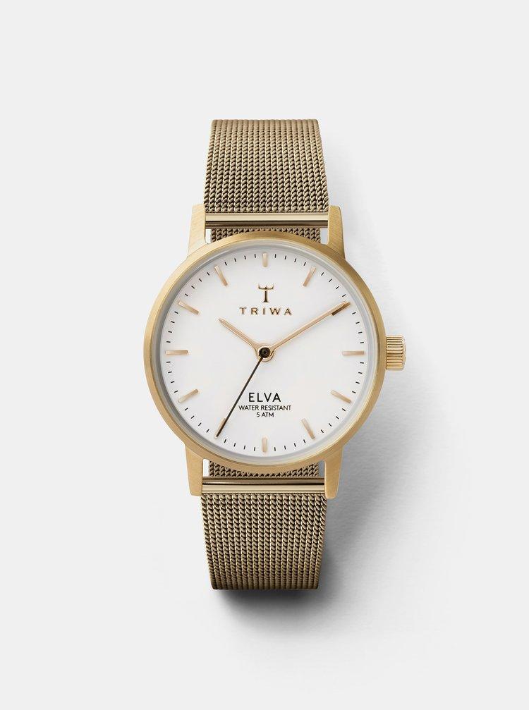 Dámské hodinky s kovovým páskem ve zlaté barvě TRIWA