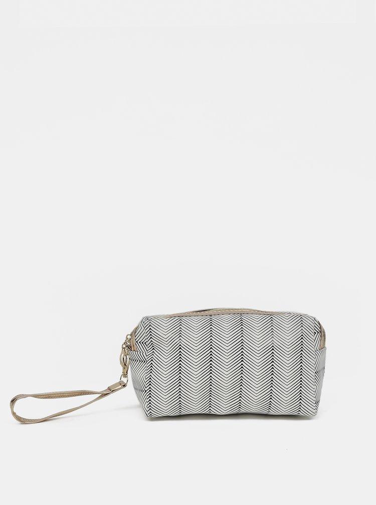 Modro-biela dámska vzorovaná kozmetická taška Clayre & Eef