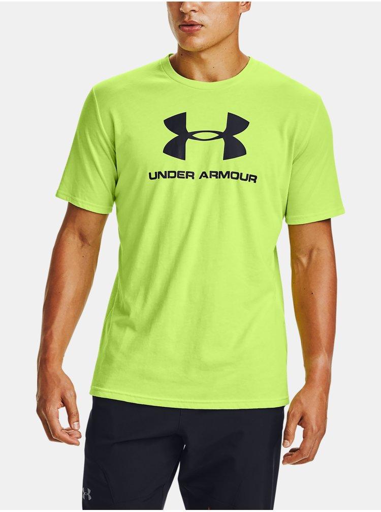 Zelené tričko Under Armour SPORTSTYLE LOGO SS