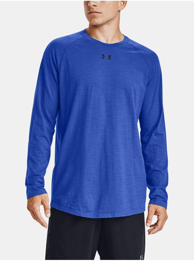 Modré tričko Under Armour Charged Cotton LS
