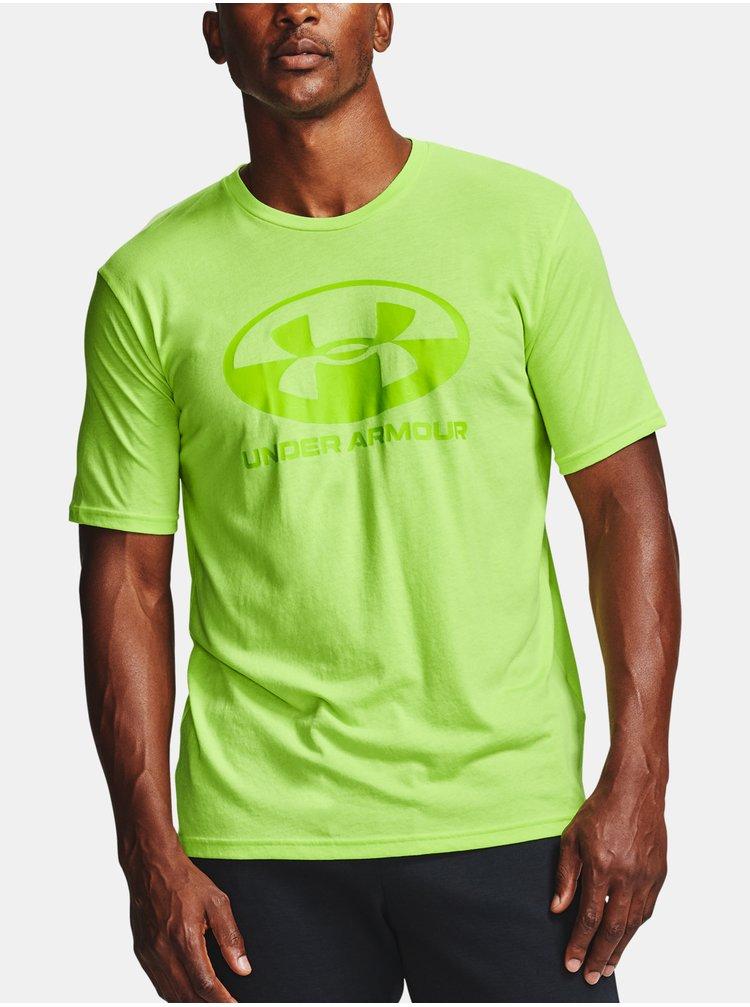 Zelené tričko Under Armour UA LOCKER TAG WORDMARK SS