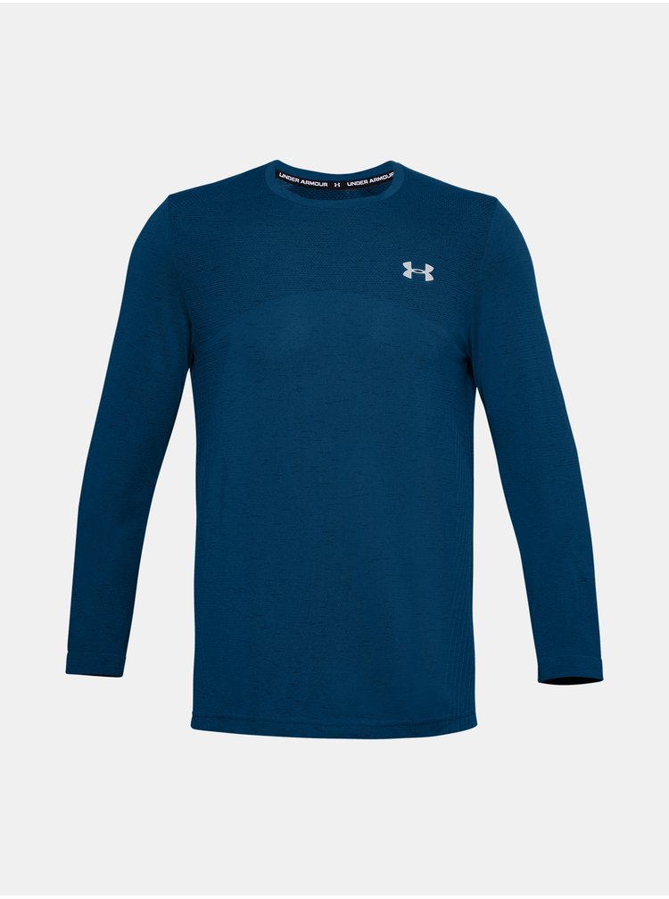 Modré tričko Under Armour UA Seamless LS