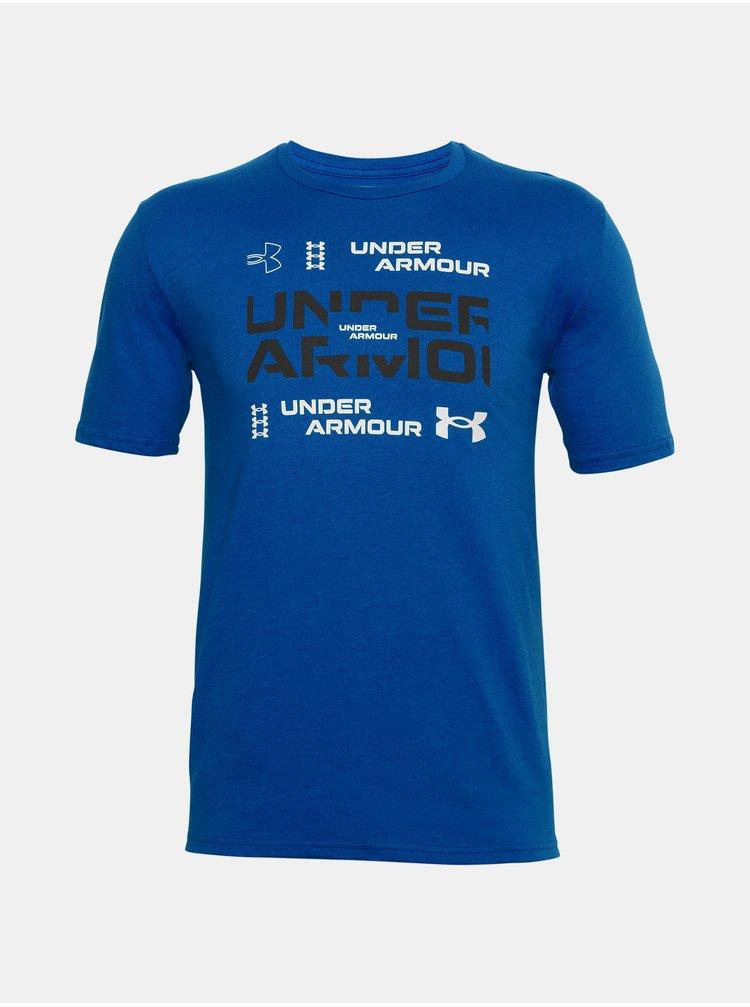 Modré tričko Under Armour UA GRID SS
