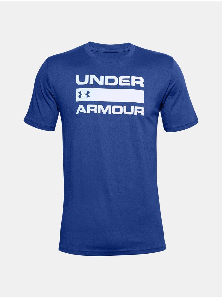 Modré tričko Under Armour UA TEAM ISSUE WORDMARK SS