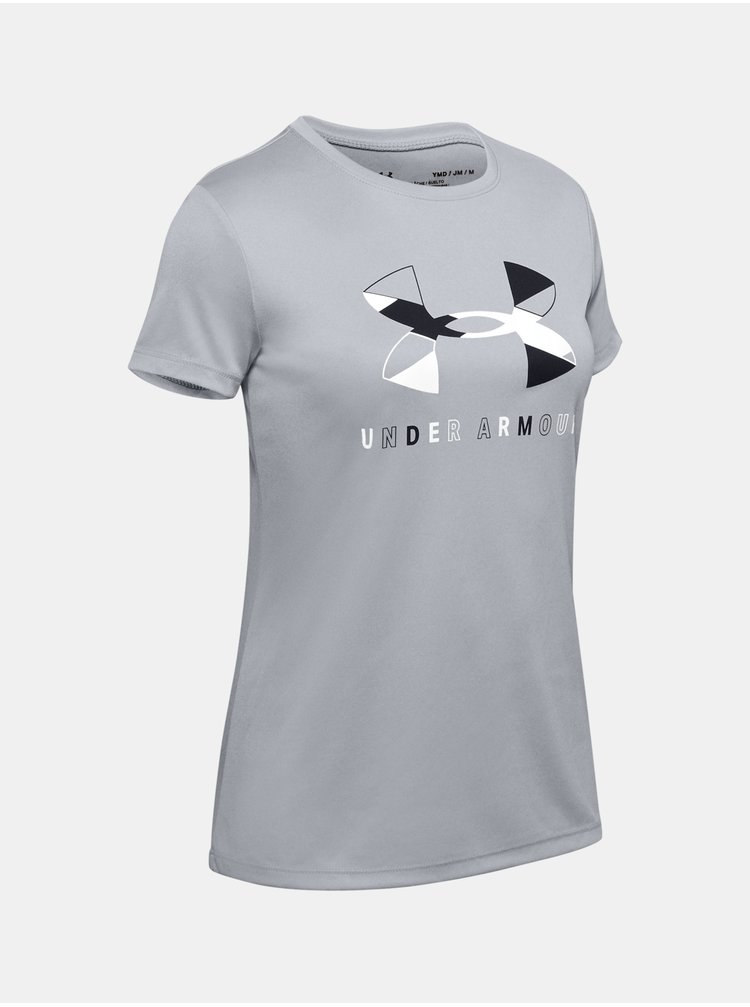 Šedé tričko Under Armour Tech Graphic Big Logo SS T-Shirt