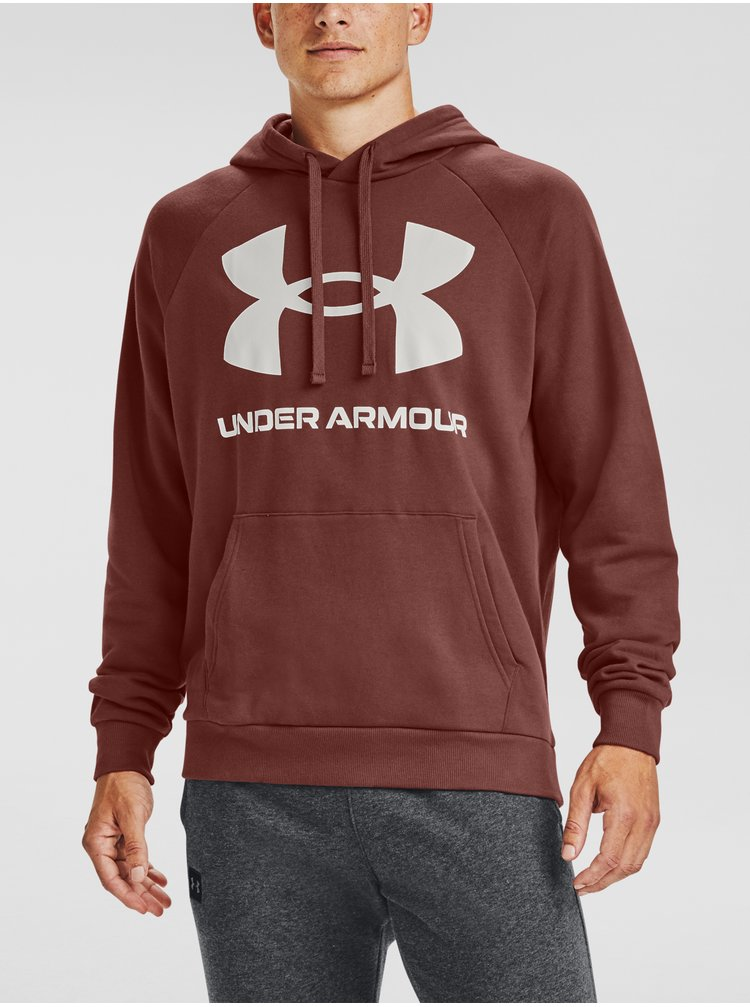 Červená mikina Under Armour Rival Fleece Big Logo HD