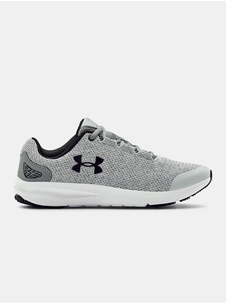Šedé boty Under Armour GGS Charged Pursuit2 Twst