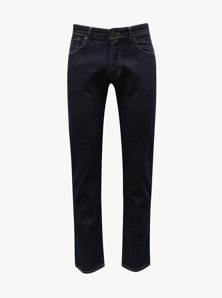 Tmavě modré straight fit džíny Selected Homme