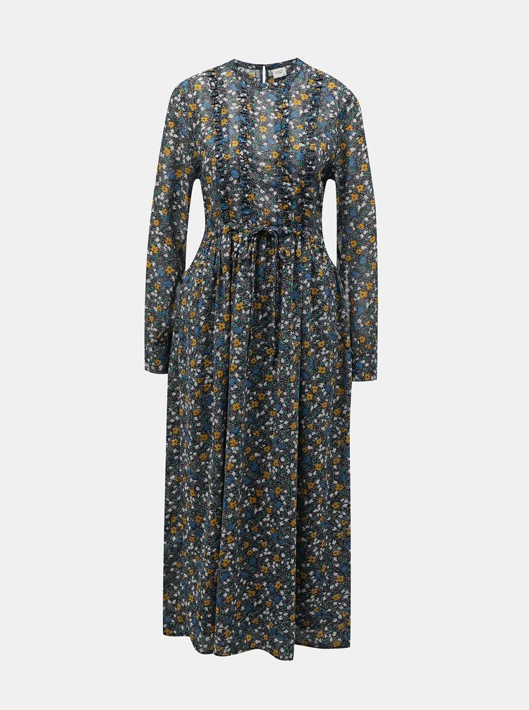 Modré květované maxišaty Jacqueline de Yong