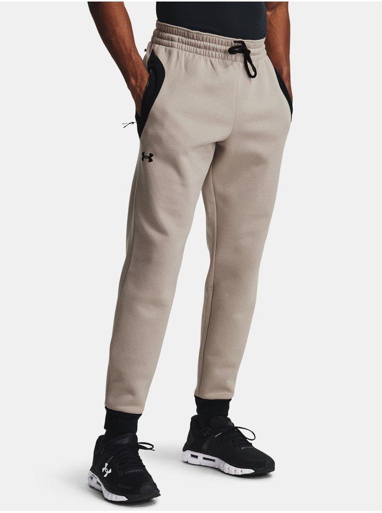 světle hnědé kalhoty Under Armour Recover Fleece Pant