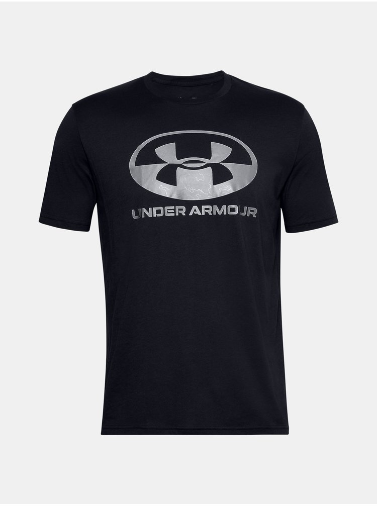 Černé tričko Under Armour UA LOCKER TAG WORDMARK SS