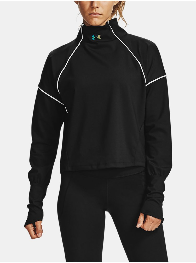 Černé tričko Under Armour UA CG Rush 1/2 Zip