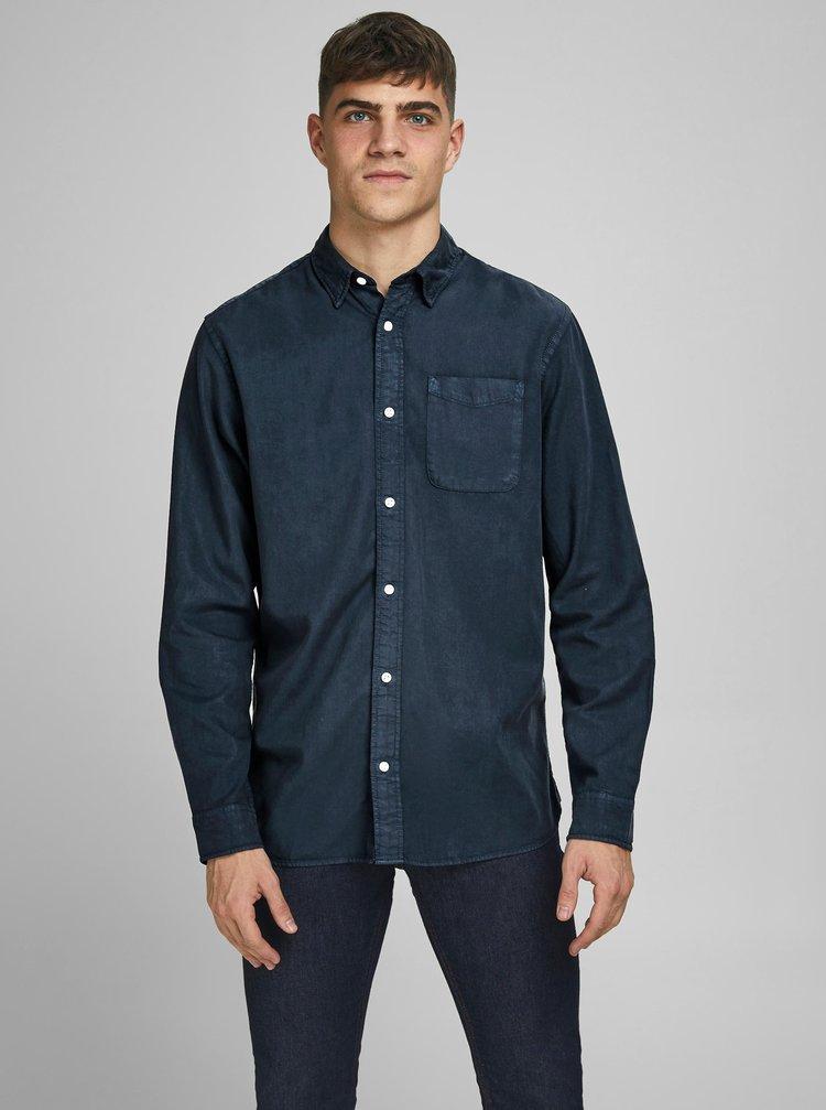 Tmavě modrá džínová košile Jack & Jones