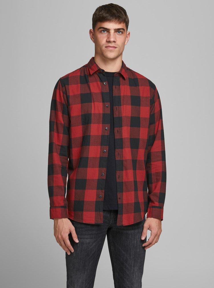 Červená kockovaná košeľa Jack & Jones