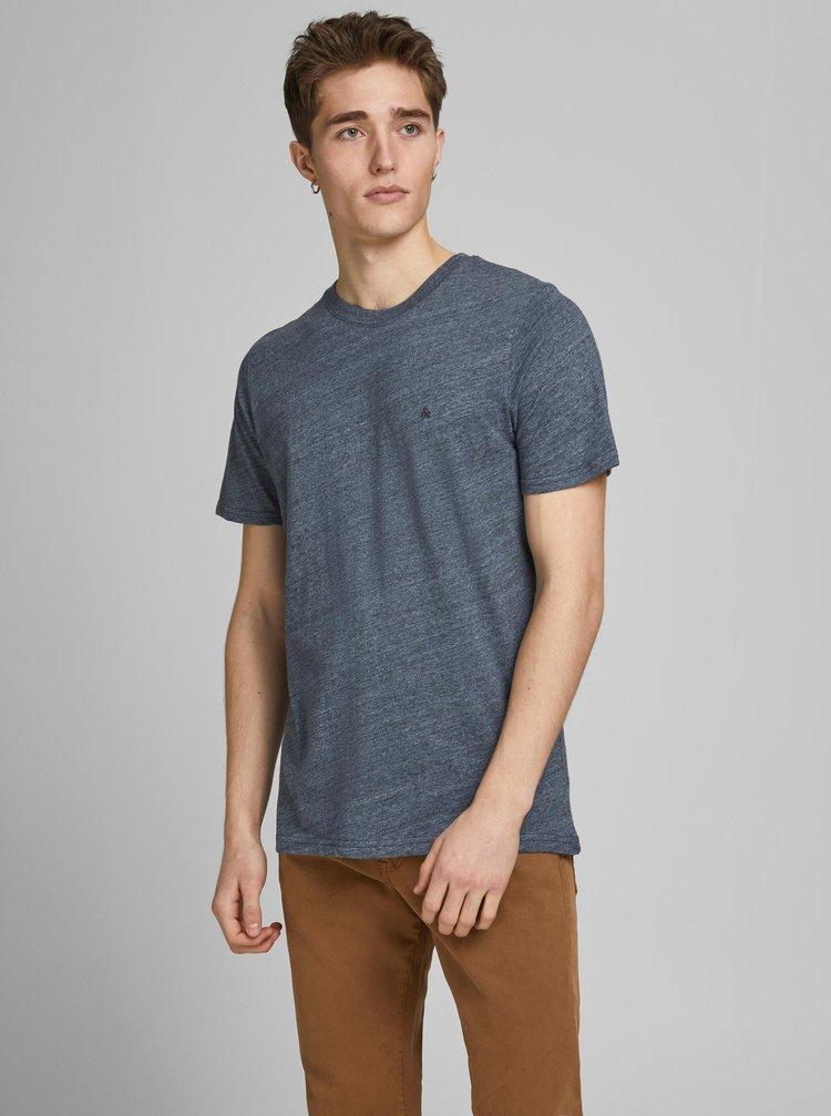 Modré žíhané tričko Jack & Jones