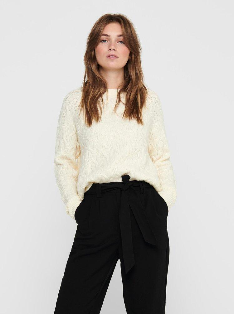 Krémový sveter Jacqueline de Yong