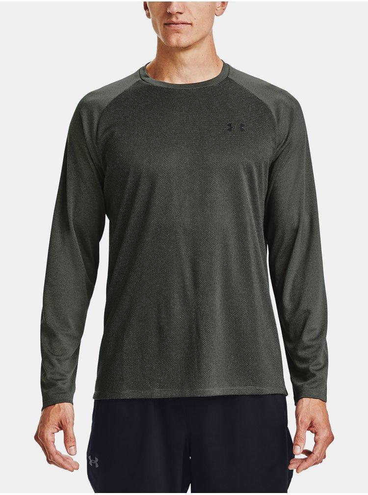 Zelené tričko Under Armour Textured LS