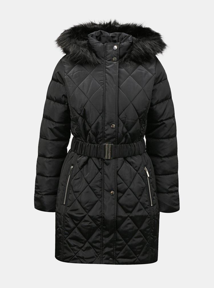 Černý zimní prošívaný kabát Dorothy Perkins