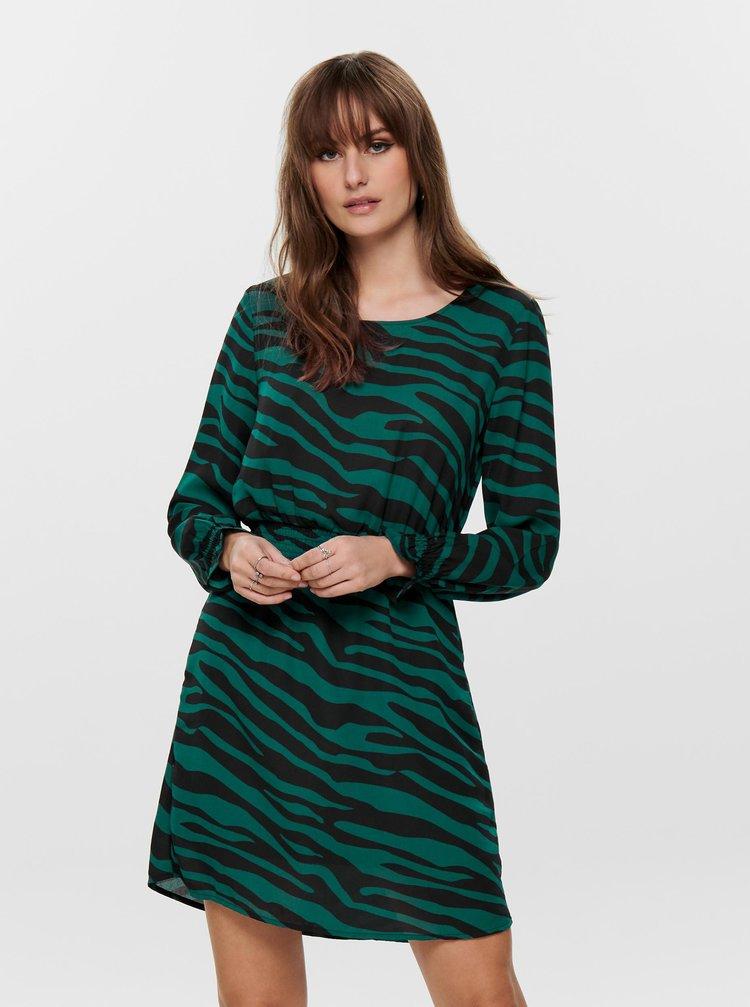 Zelené vzorované šaty Jacqueline de Yong