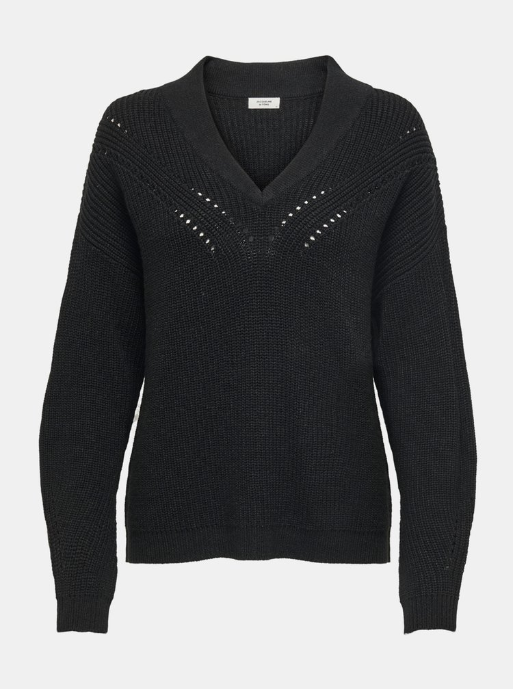 Čierny sveter Jacqueline de Yong