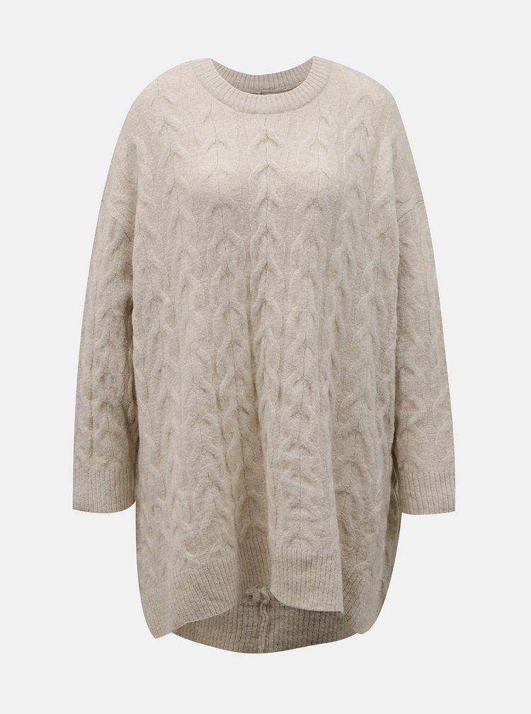 Krémový sveter s prímesou vlny ONLY Dora