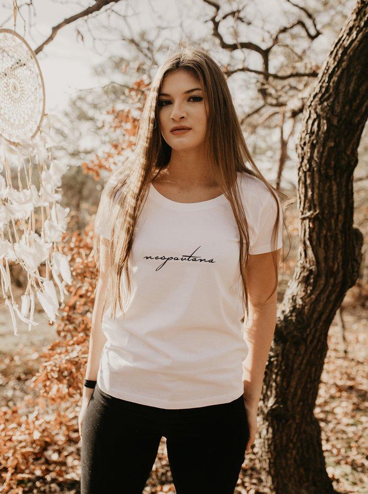 Bílé dámské tričko ZOOT Original Nespoutaná