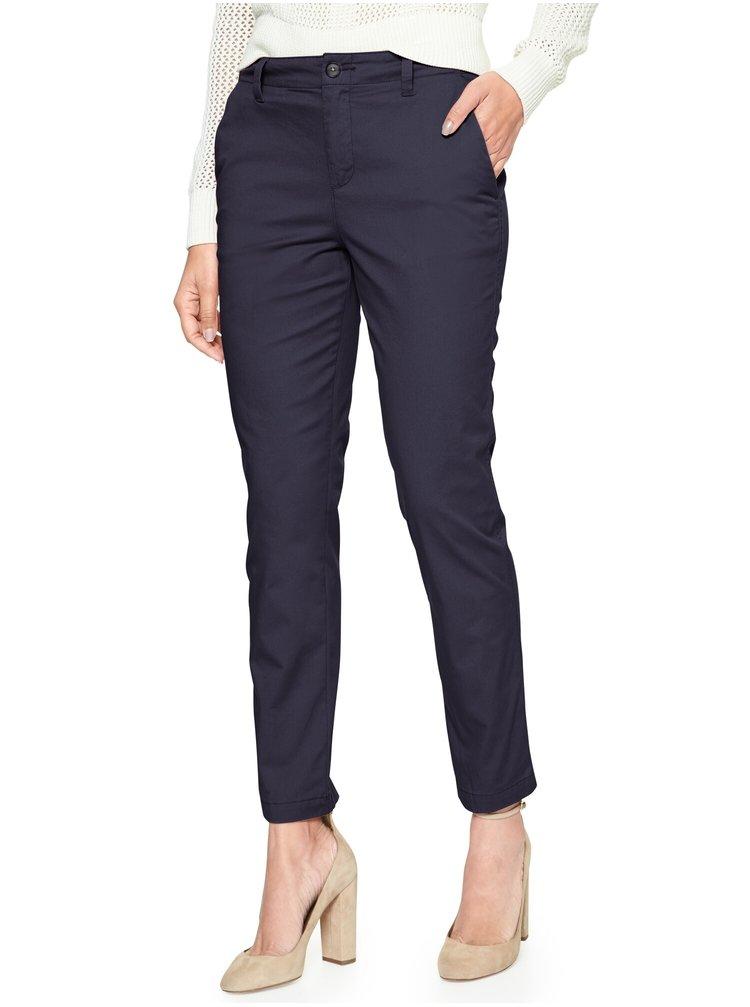 Modré dámské kalhoty GAP Khaki