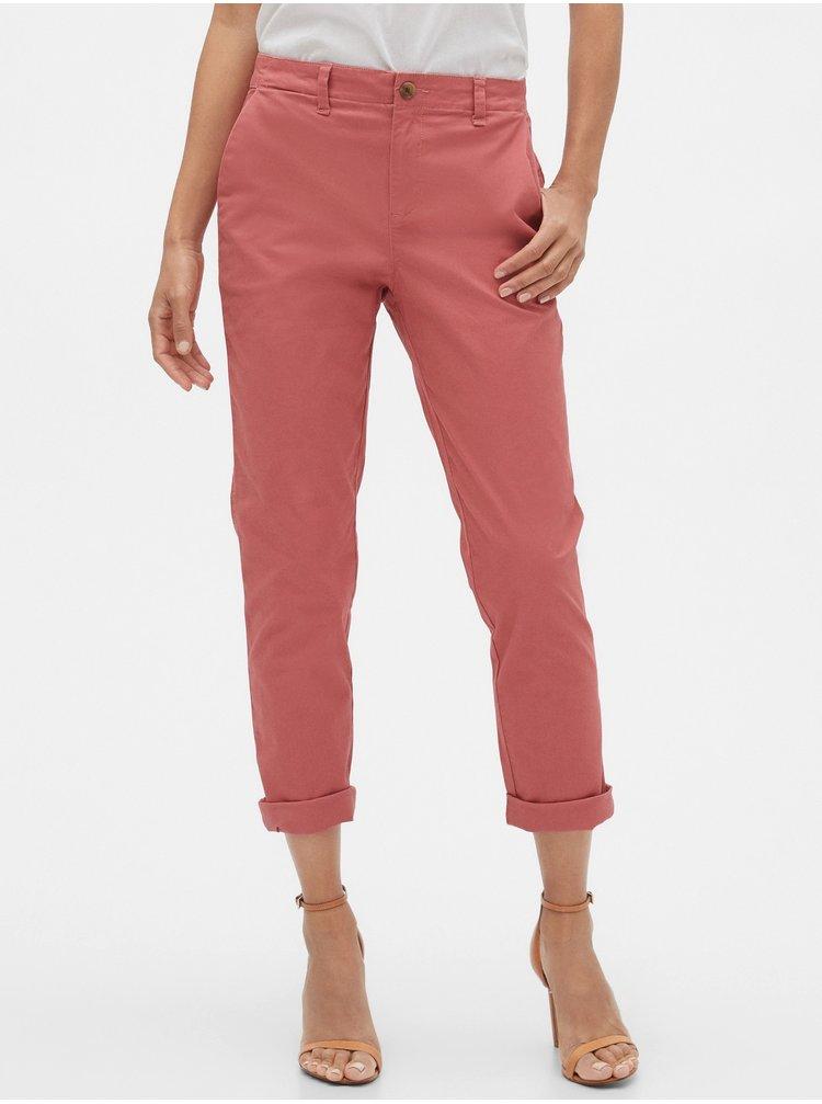 Červené dámske nohavice GAP Khaki
