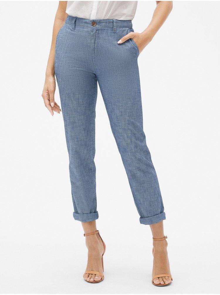 Modré dámské kalhoty GAP Khaki Chambray