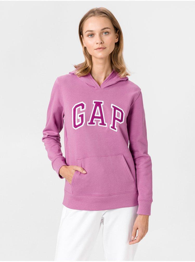 Růžová dámská mikina GAP Logo