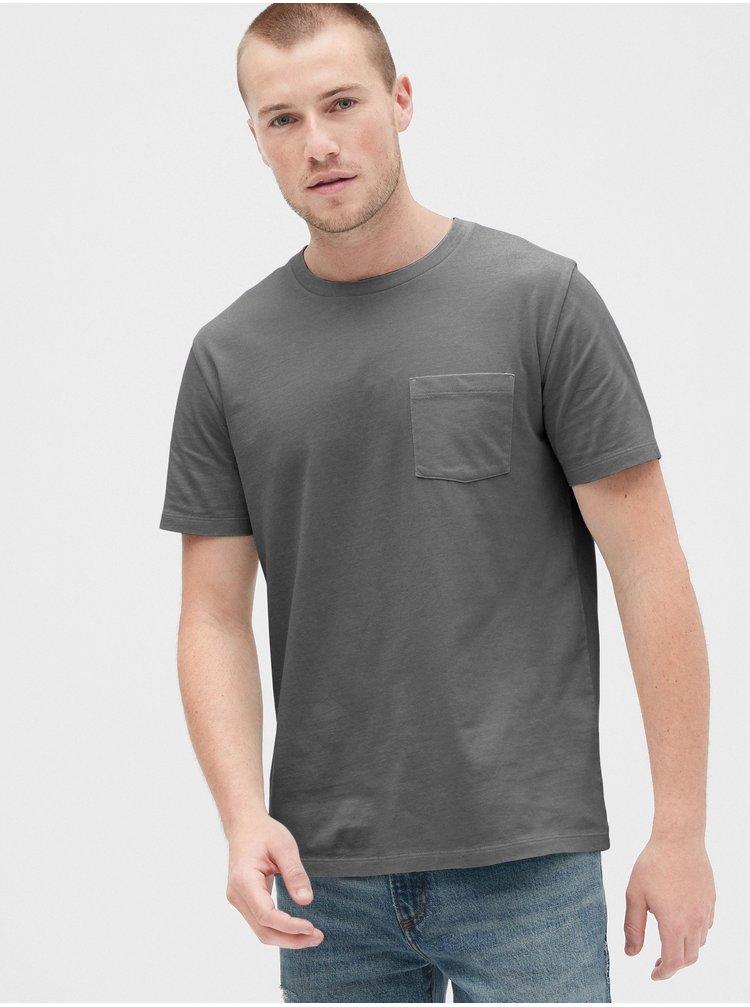 Čierne pánske tričko GAP Pocket