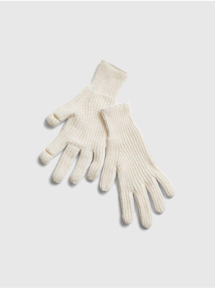 Smotanové dámske rukavice GAP