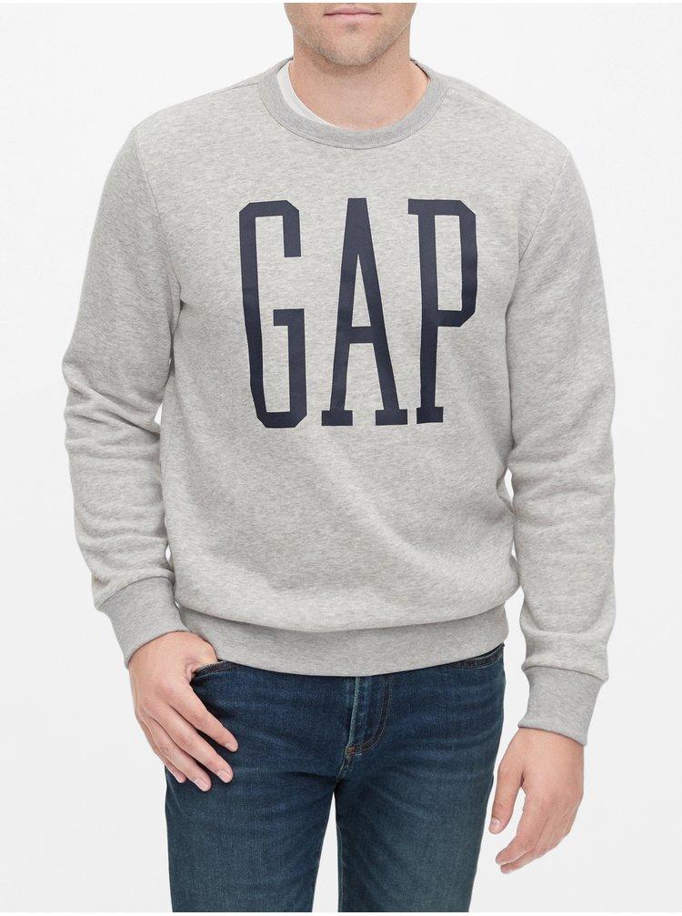 Šedá pánska mikina GAP Logo