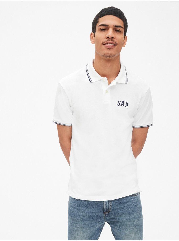 Bílé pánské polo tričko GAP Logo