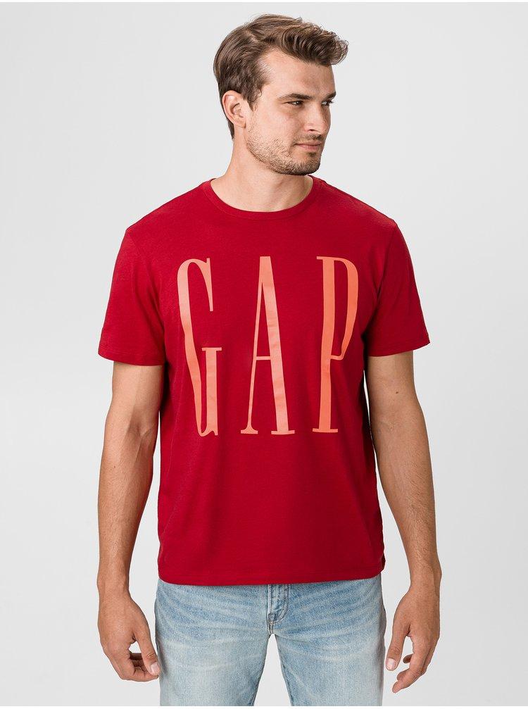Červené pánske tričko GAP Logo