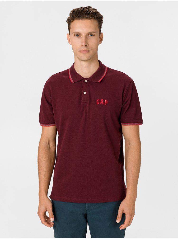 Vínové pánské polo tričko GAP