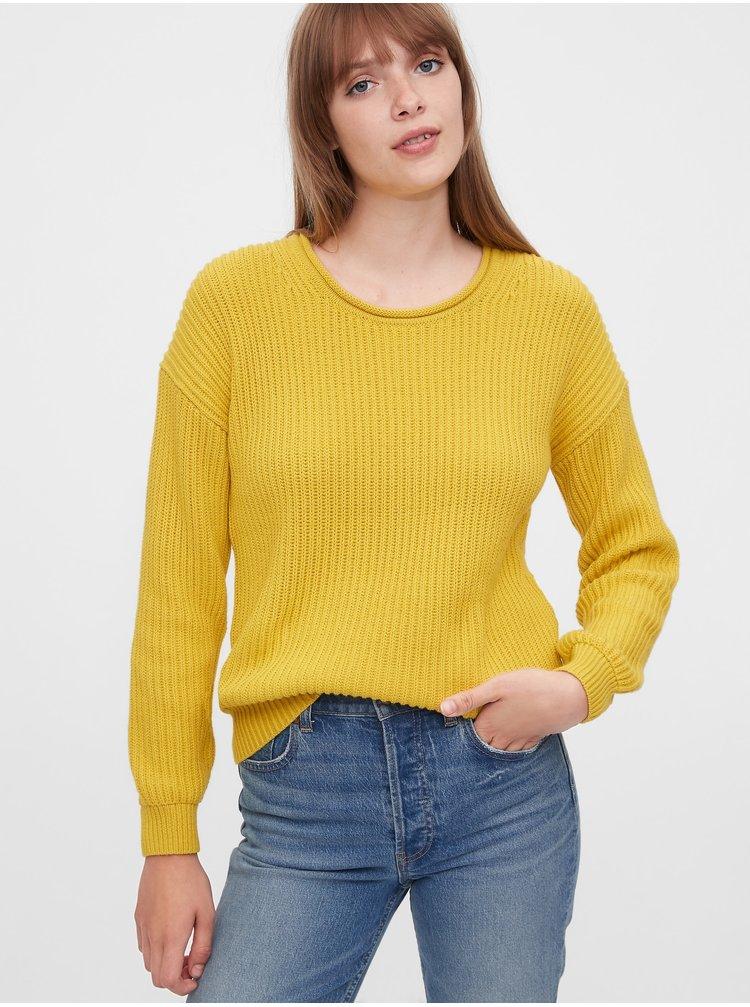 Žlutý dámský svetr GAP
