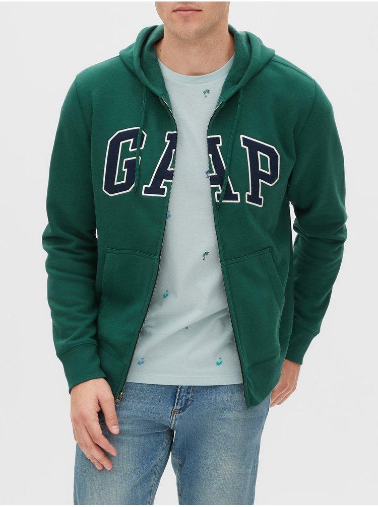 Zelená pánska mikina GAP Logo