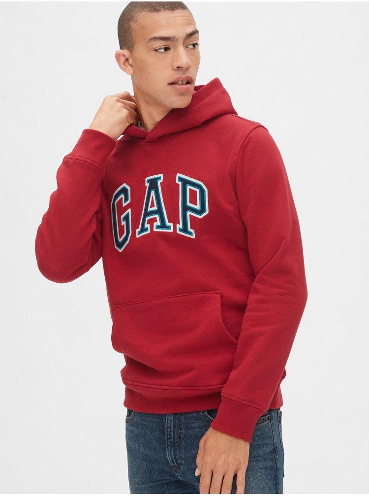 Červená pánská mikina GAP Logo