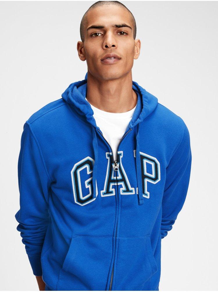 Modrá pánska mikina GAP Logo