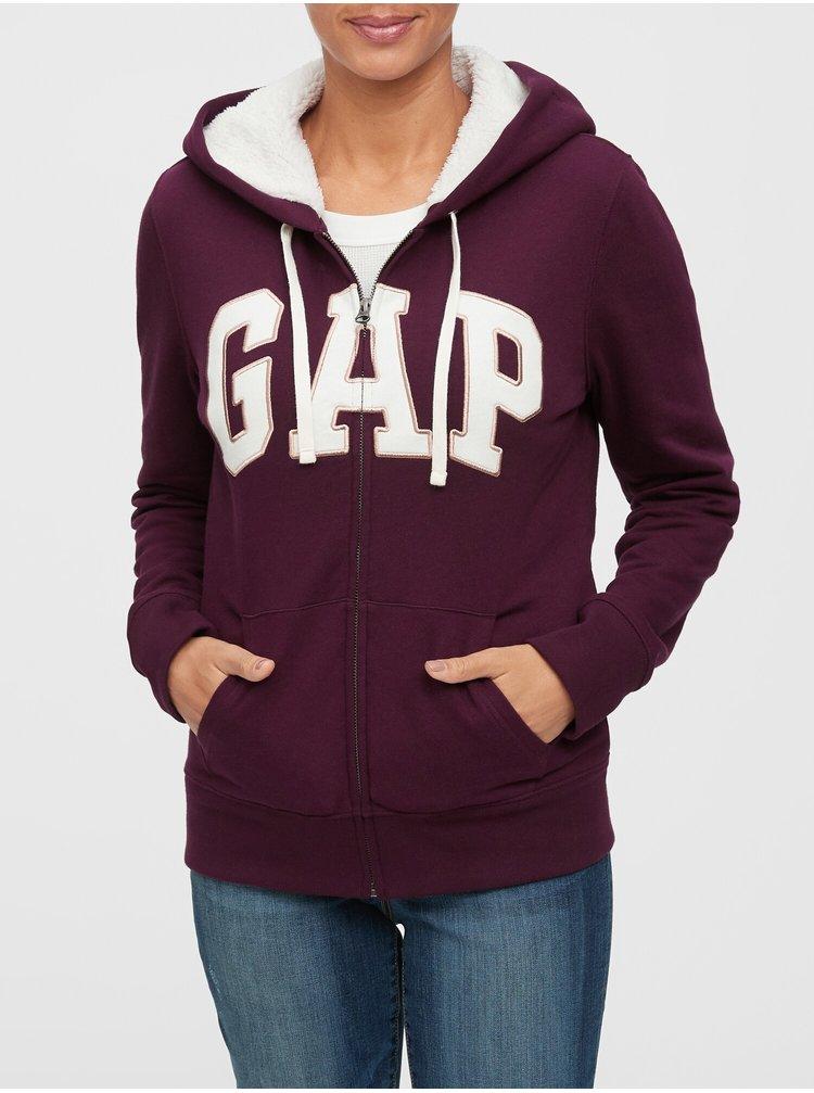 Fialová dámská mikina GAP Logo