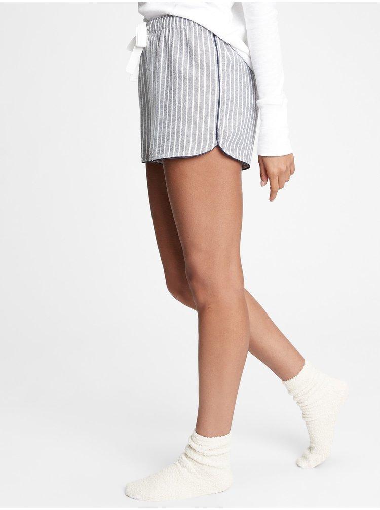 Šedé dámské pyžamové kraťasy GAP