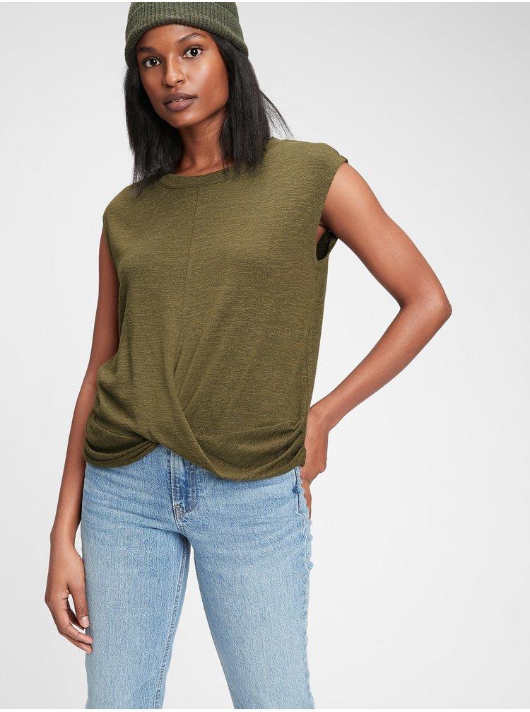 Zelené dámske tričko GAP