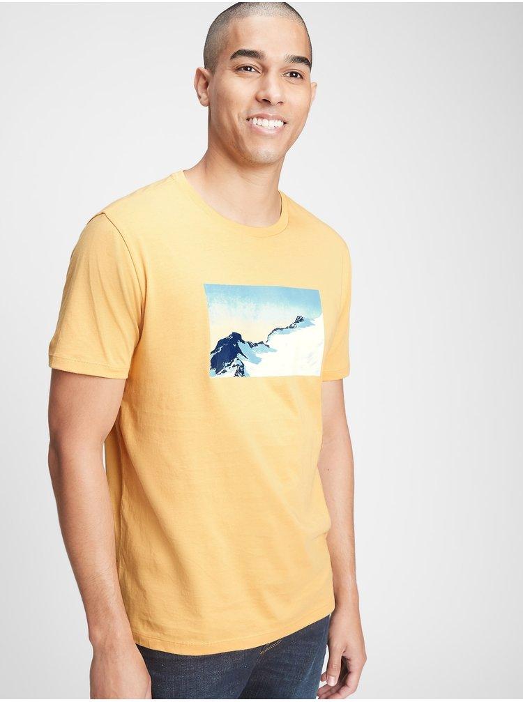 Žlté pánske tričko GAP