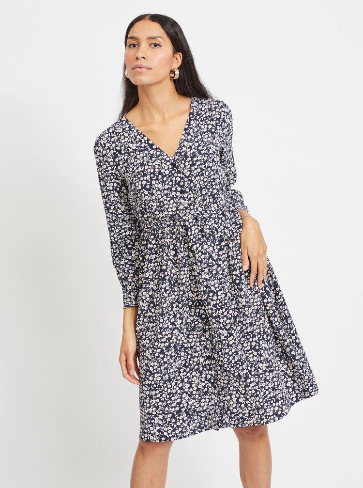 Modré květované šaty .OBJECT