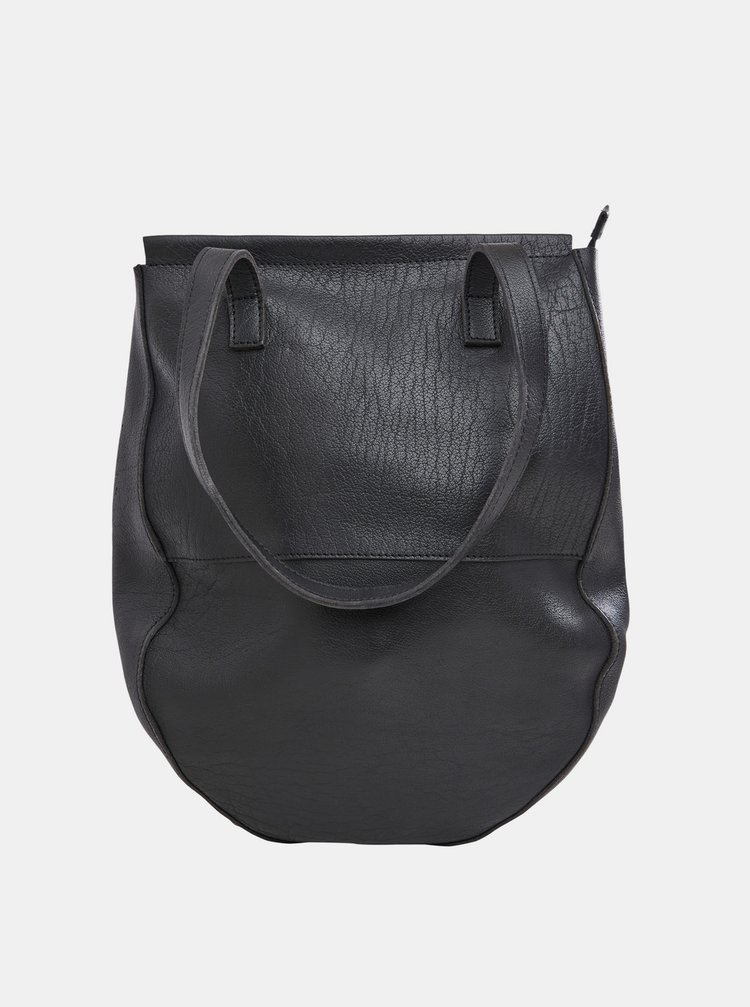 Černá kožená kabelka .OBJECT