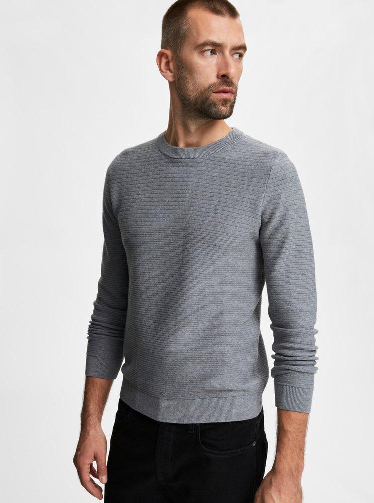 Šedý basic svetr Selected Homme