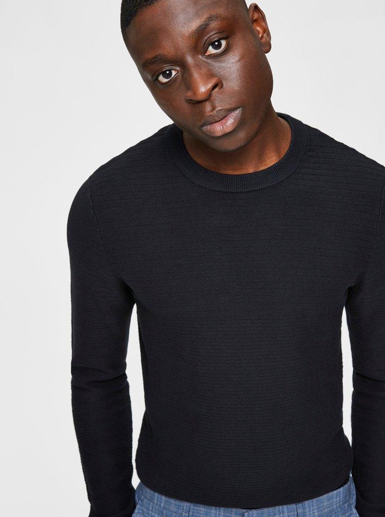 Černý basic svetr Selected Homme